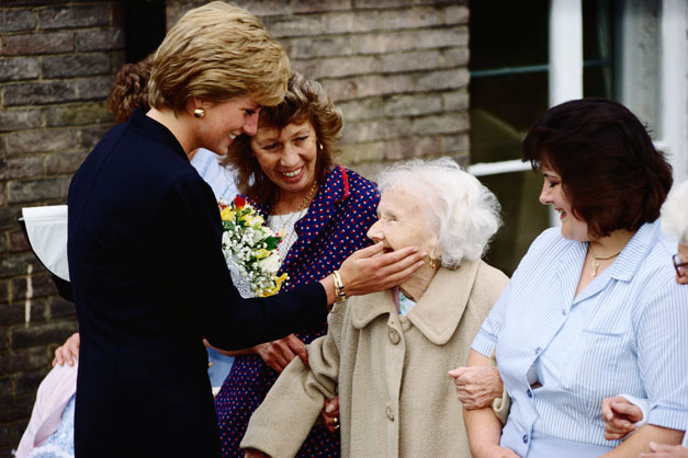 princess diana charity work world relief fund charity